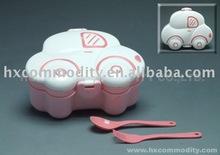 Beetle car shaped plastic lunch box
