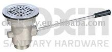 brass drainer straight lever valve