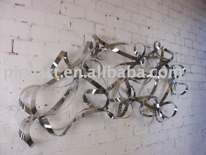 D coration murale mat riel en acier inoxydable design de d cors id du pro - Sculptures metalliques murales ...