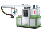 Semi automatic double color double density pu shoes making machinery