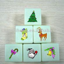 New printing logo dice,christmas lucky dice