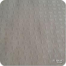 Lycra Dot Design Ivory 100% Pure Mulberry Silk JQD Satin Stretch Fabric S14