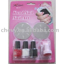 nail art stamping set with bisliter card and we can accroding your request to do the pckage and the nail polish colors