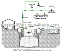 anaerobic digesters of family size