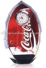 Coca - cola crystal table clock