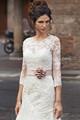 2015 casamento do laço elegante vestido gola alta manga comprida