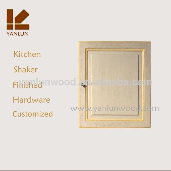 fábrica de personalizar el panel levantado terminado mdf chapa de roble gabinete de diseño de la puerta
