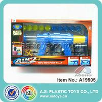 Plastic Blue Air Soft Toy Gun For Kids