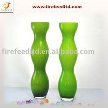 Handmade glass vase