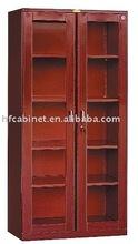 Filing cabinet,Metal filing cabinet,glass-door wood grain filing cabinet