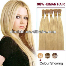 stright-tip extension/nail-tip human hair/hair products/hair extension