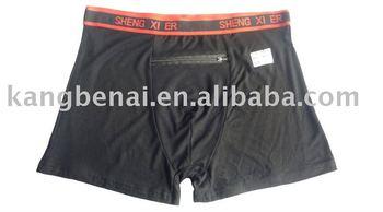 men's zip pocket boxers