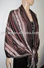 muslim hijab wedding dress JDC-122_19#: scarf with fashion geometric line and stripe pattern