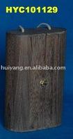antique 2-bottle decorative wooden wine box