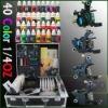 professional Tattoo Kit 4 Machine Guns 40 Ink Power Set D69