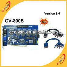 Tarjeta DVR GV tarjeta GV-800S 8.4 versión / GV 800 cámaras de seguridad cctv DVR