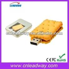 2012 new design food USB flash drive cookie USB key pen drives