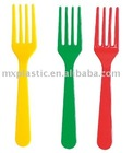 PS material .colorful plastic hard fork