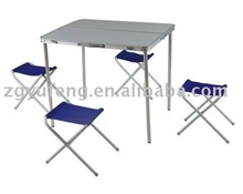 Outdoor Portable Folding table with 4 Chairs