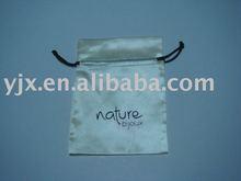 satin drawstring jewellery pouch