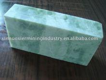 soapstone brick for decoration in white green color