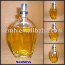 high white glass perfume bottle