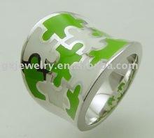 Lady jewelry steel enamel stainless steel rings