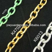 Environmental aluminum bag o chain link size 27.5*20mm