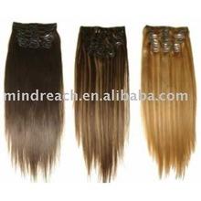 Cheap human hair 7Agrade brazilian hair clip on hair extension