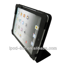 Smart cover pu leather tablet pc case for ipad2/3/4 with bracket
