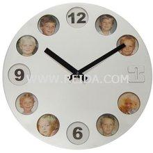 Photoframe Wall Clock RD2341R,Wall Clock,Plastic Wall Clock,Photoframe Plastic Wall Clock,REIDA Clock