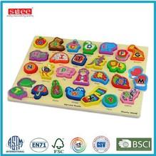 wooden alphabet blocks board toy