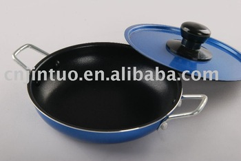 Aluminum Fry pan with two sides ear As seen On TV