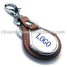 Fashion Metal Leather key Ring