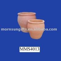 Exotic terracotta plant flower pots