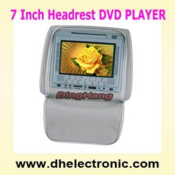 Car Video 7 inch Heardrest DVD Player with Zipper