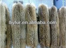BY- RC003 raccoon fur strip, raccoon fur collar