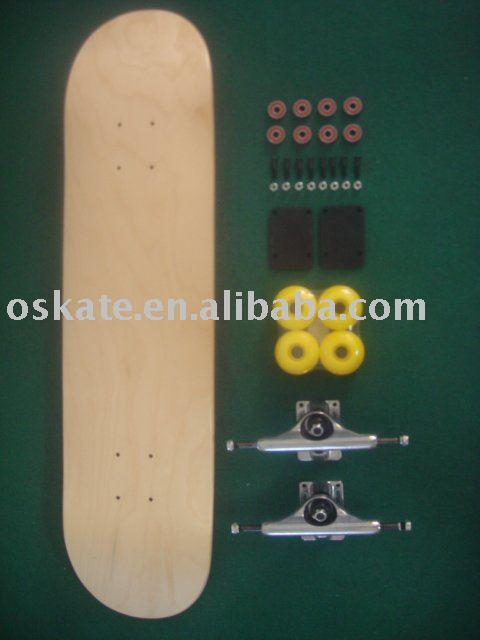 Blank Skateboard Complete Oskate Pro Blank Skateboard