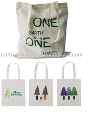 Organic cotton shopper with long handle