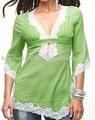 Madera ladies' túnica de encaje