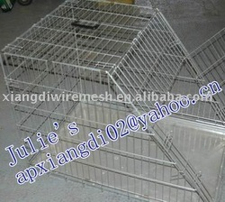 Galvanized pet dog cage