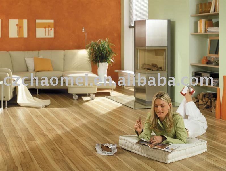 HDF U-groove laminate wood flooring