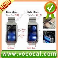 Intercrew Luxury Sport Style 72 LED Digital Men Boy Metal Watch