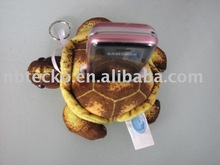 Sea turtle shaped plush toy mobile phone holder