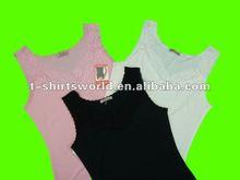 CHEAP stock lot WOMEN'S singlet/vest with lace decoration