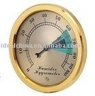 gold color bimetal hygrometer/moisture meter/humidity meter