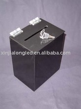 black square wholesale lucite donation boxes