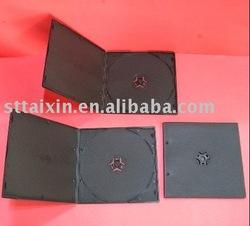 mini dvd case 5mm short black double dvd box