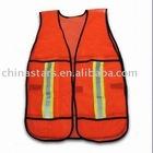 red mesh reflective safety vest meeting EN471 ANSI