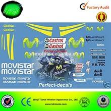 Racing motorcross decal , sticker
